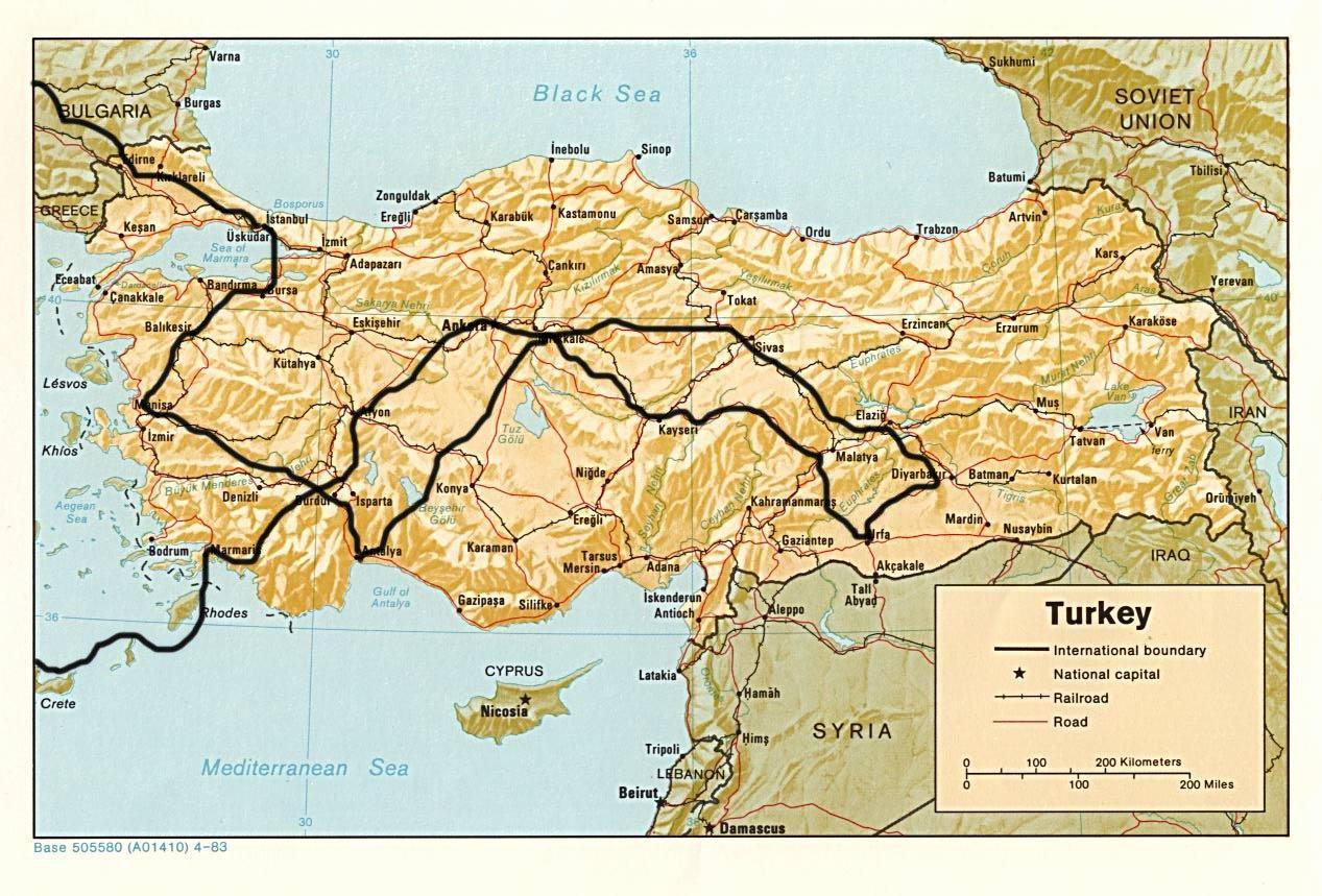 Turcja Mapa
